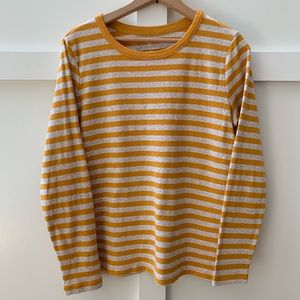 lands end striped shaped tee